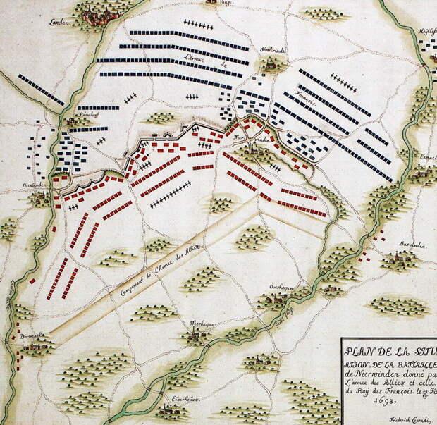 Схема битвы при Неервиндене 29 июля 1693 года - Шпаги наголо, дворяне! | Warspot.ru