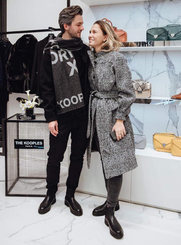 Светлана Бондарчук с мужем Сергеем Харченко, Никита Пресняков с женой Аленой и другие на открытии бутика в Москве