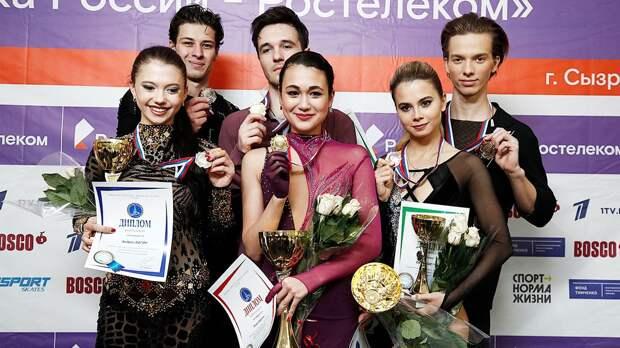 Худайбердиева и Базин — первые чемпионы нового сезона в фигурном катании. Они дебютировали с победы на Кубке России