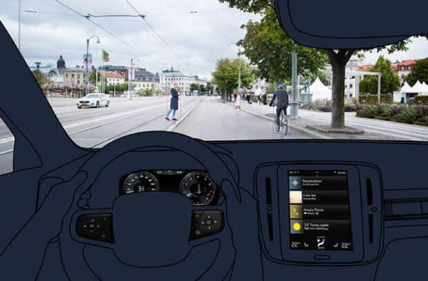 Кроссовер Volvo XC40: первые изображения салона