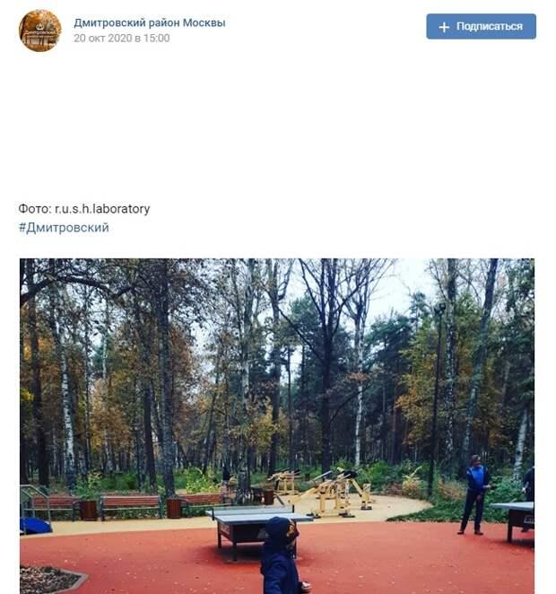 Фото дня: в  парках Дмитровского установили столы для пинг-понга