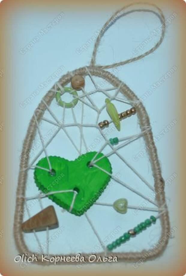 Мастер-класс Поделка изделие Валентинов день Моделирование конструирование Подвески к дню Святого Валентина Бисер Бусины Гипс Нитки Проволока Шпагат фото 2