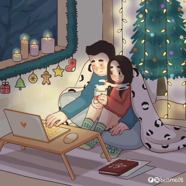 Вьетнамская художница рисует иллюстрации, показывающие, что такое отношения (8 фото)