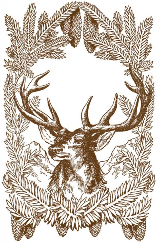 Vintage-Christmas-Deer-Image-GraphicsFairy-brn-667x1024 (455x700, 444Kb)