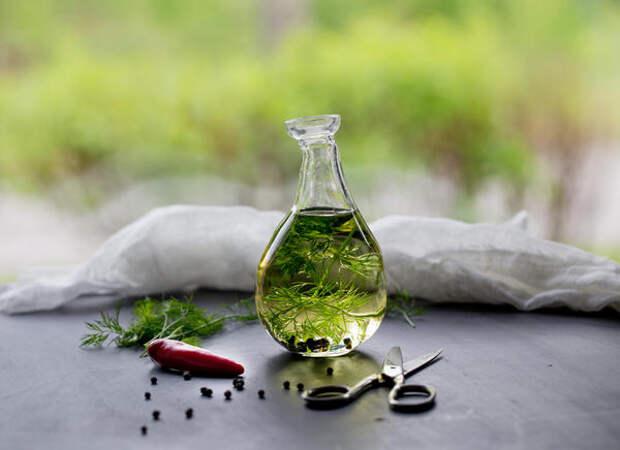Подсолнечное масло с укропом