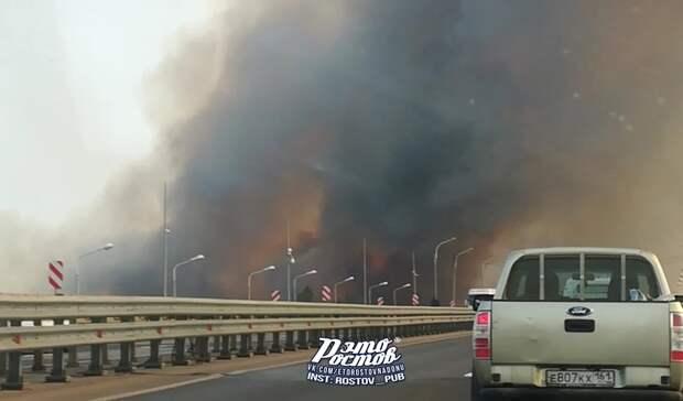 Ландшафтные пожары возможны в Ростовской области из-за высокой пожароопасности
