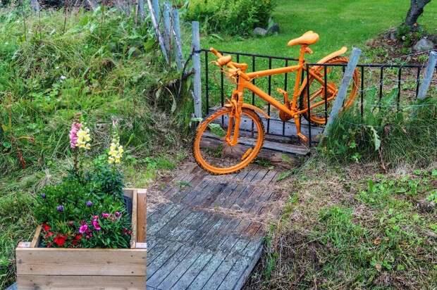 Как используют старые велосипеды в Норвегии