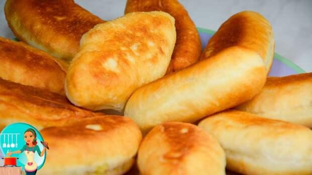 Вкусно, как у бабушки: пирожки с квашеной капустой, жареные на сковороде!