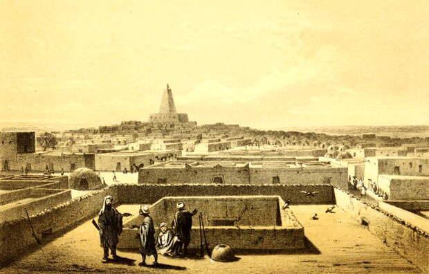 Вид на Тимбукту, Генрих Барт (1858).