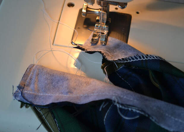 Как пришить пояс к юбке