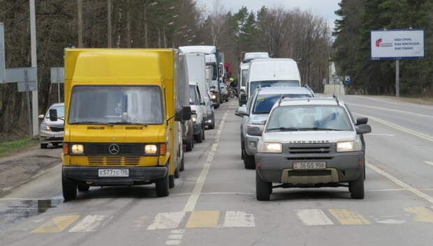 Пробка длиной свыше 3 км образовалась на автотрассе А‑107 в Подольске