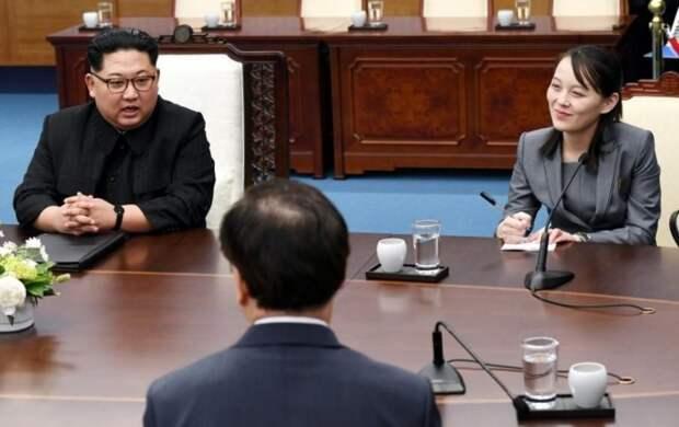 Ким Чен Ын и Ким Ё Чжон на межкорейском саммите в демилитаризованной зоне двух Корей в апреле 2018 года. / Фото: www.businessinsider.my
