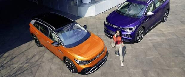 На китайский рынок выходит семиместный электрический VW ID.6