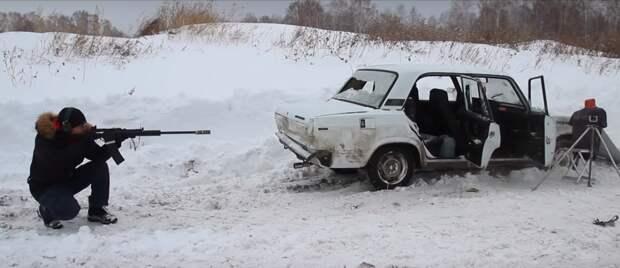 Реальный тест, что будет если стрелять в бензобак автомобиля и в ДВС