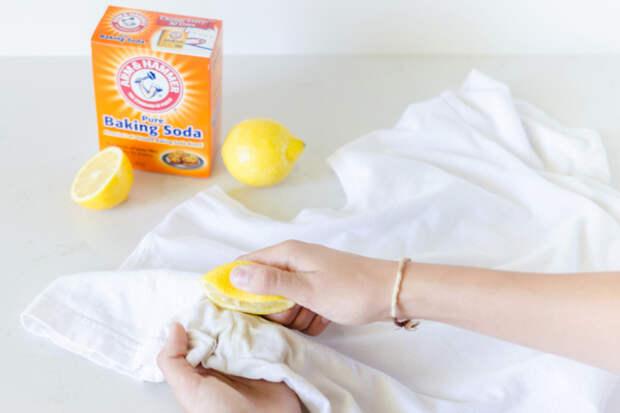 Лимон и сода от пятен