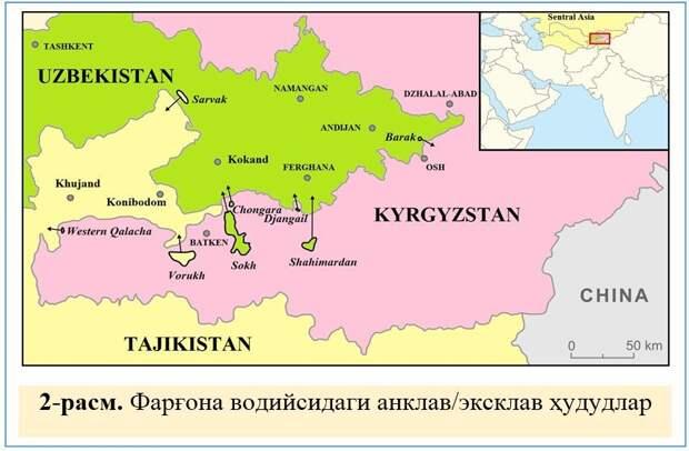 Анклавы Центральной Азии