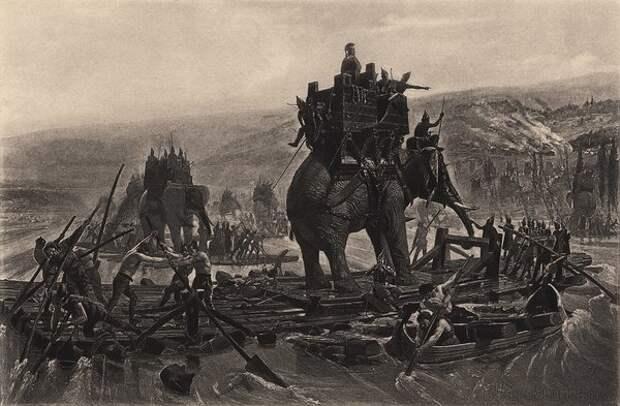 Переправа карфагенской армии через Рону