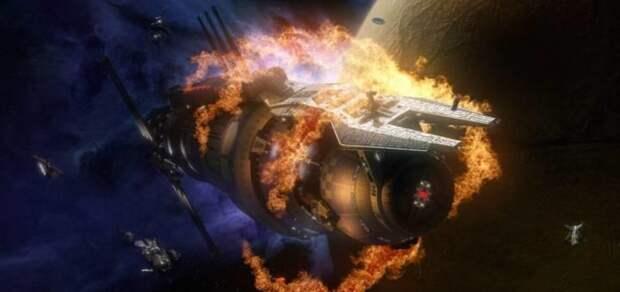 МКС пробило метеоритом