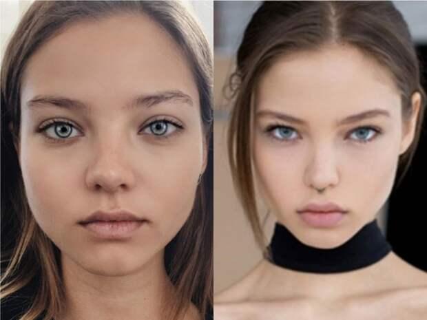 9 неожиданных фото знаменитостей до и после фотошопа