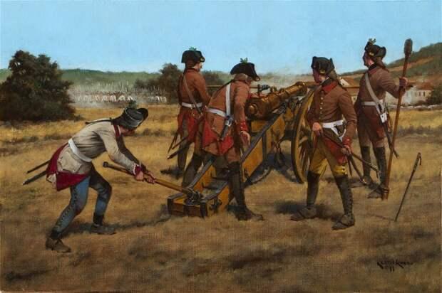 Правило в руках австрийского артиллериста, 1796 год. Иллюстратор: Keith Rocco