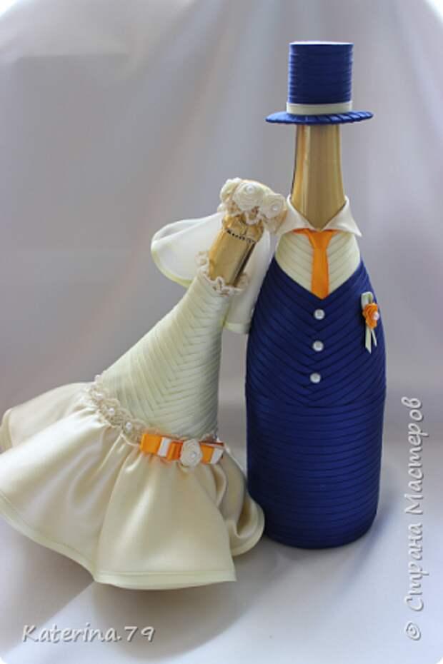 Декор предметов Мастер-класс Поделка изделие Свадьба Моделирование конструирование Шитьё Бутылочки жених и невеста как я делаю пушистую юбку для невесты  Бусины Бутылки стеклянные Ткань фото 22