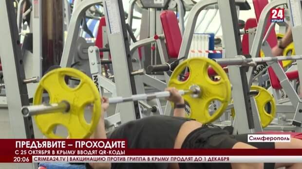 С 25 октября в Крыму вводят QR-коды