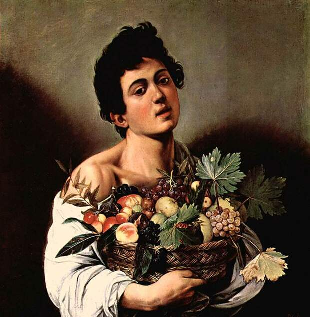 Юноша с корзиной фруктов
