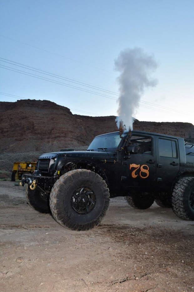 Паровоз Jeep Wrangler. Истинный паропанк jeep wrangler, авто, интересное, паравоз