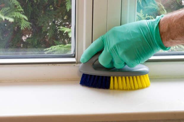 Как убрать пятна пластиковом подоконнике