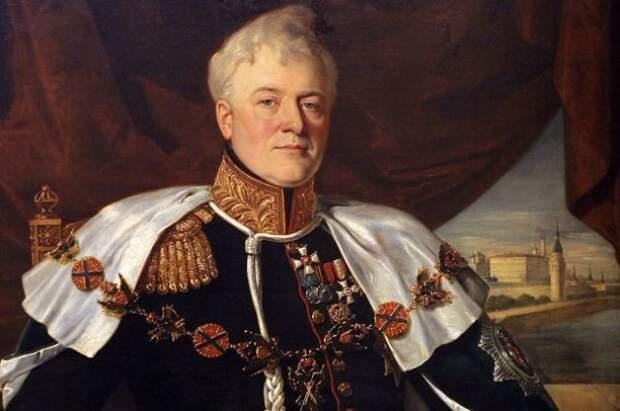Генерал-губернатор Дмитрий Голицын. Портрет работы Франсуа Рисса