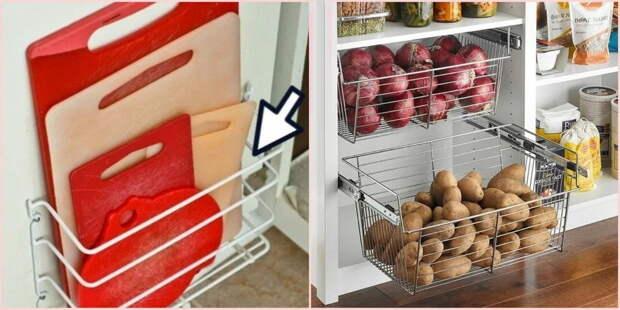 10 бесподобных идей, которые решат проблему хранения на маленькой кухне