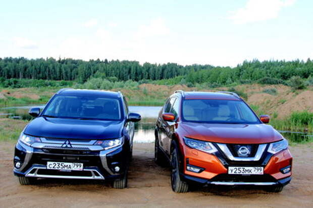 Nissan X-Trail и Mitsubishi Outlander — кендо на вариаторах