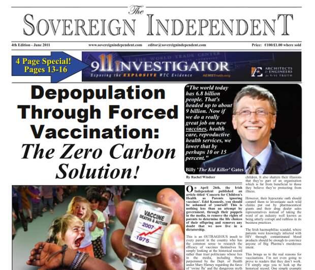 """""""Депопуляция через принудительную вакцинацию"""": Скандальная статья Билла Гейтса вновь опубликована?"""