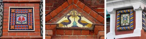 Изразцовый орнамент на фасаде