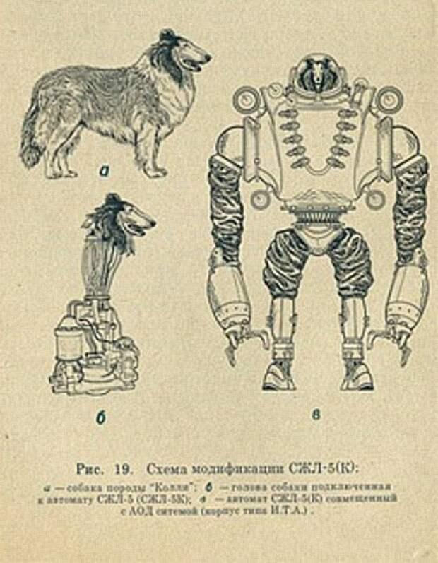 Фальшивый скан странички из брошюры о собаке-биороботе.