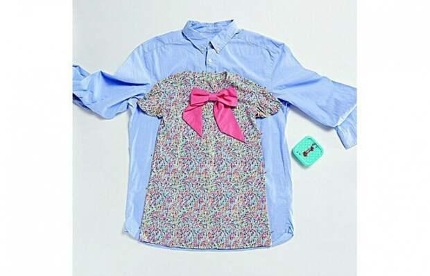 Платье для девочки из рубашки (diy)