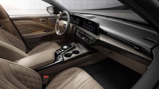 Новый большой Kia K8 с «умными» сиденьями