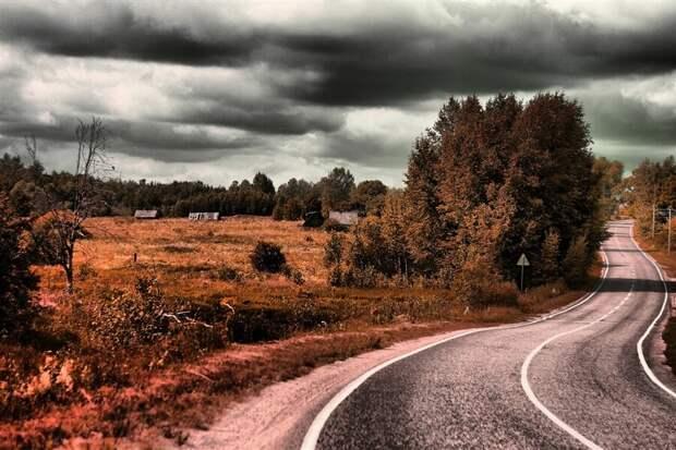 Дорога по которой проходил маршрут. Автор я.