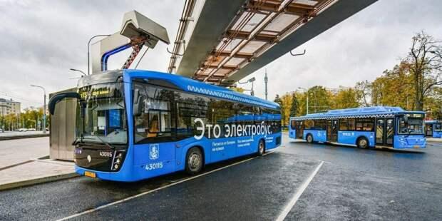 Собянин: До конца года в Москве будет около 600 электробусов