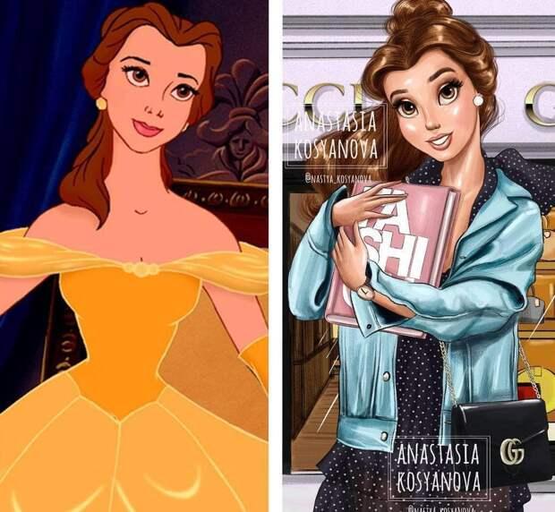 Диснеевские принцессы, одетые на современный лад