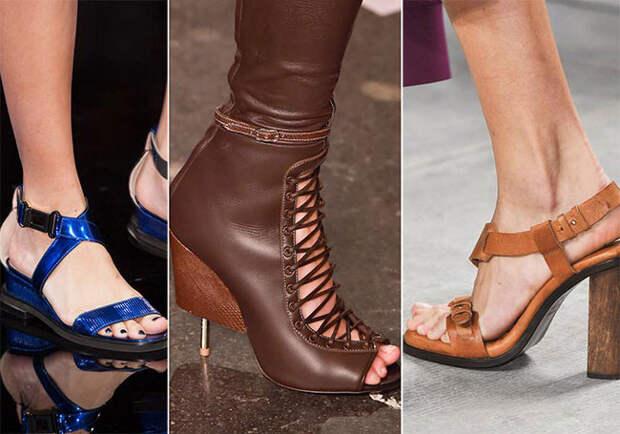 Кожаная обувь - тенденции весна-лето 2015