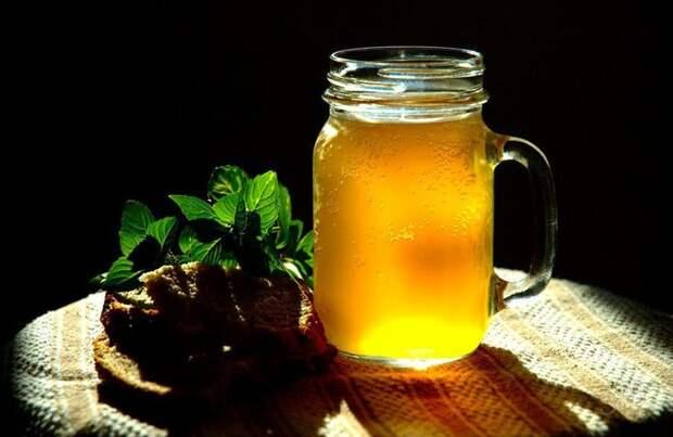 Домашний квас с мятой и листьями смородины Домашний квас, готовка, жажда, квас, легкие рецепты, напиток, рецепты