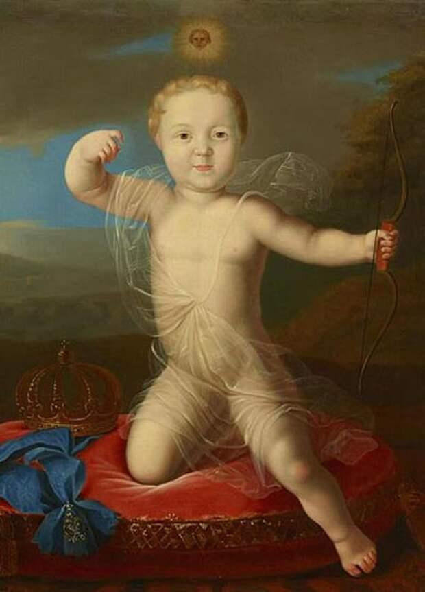 Портрет младенца Петра Петровича. Автор неизвестен