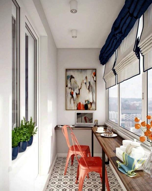 Современный балкон с барной стойкой. | Фото: Facebook.