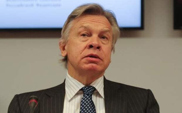 Сенатор Пушков с сарказмом отреагировал на слова Псаки о попытках США снизить напряженность