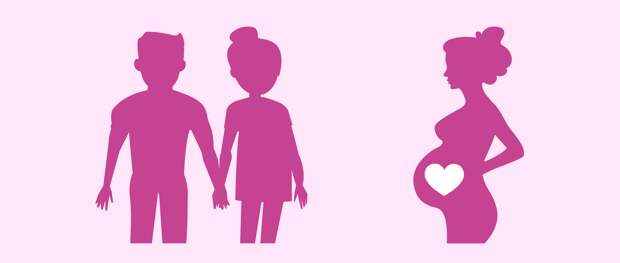 Супружеская пара и суррогатная мать