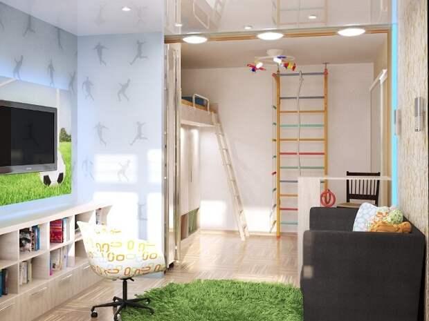 Детская комната в хрущевке: фото и варианты планировки (61 фото)