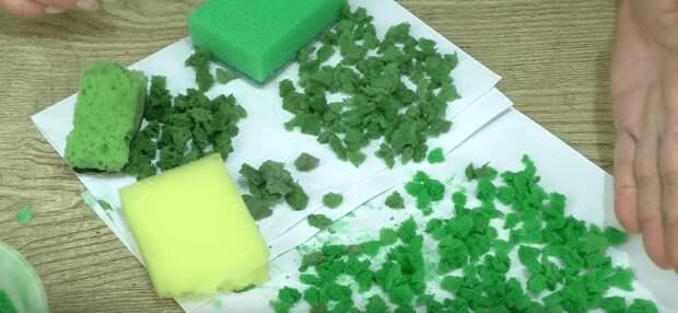 Идея для рукодельниц: интересный декоративный материал из обычной губки