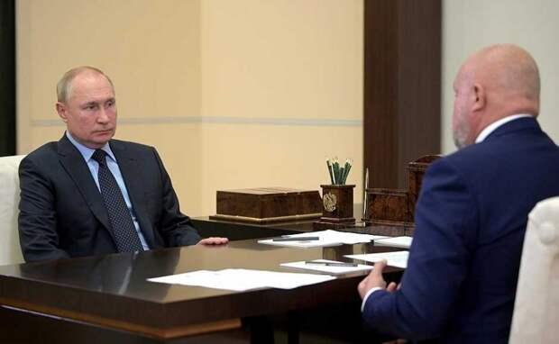 Владимир Путин и Сергей Цивилев обсудили строительство аэропорта вблизи Шерегеша