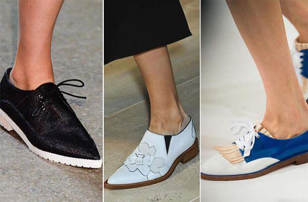 Брутальные модели женской обуви - тенденции весна-лето 2015